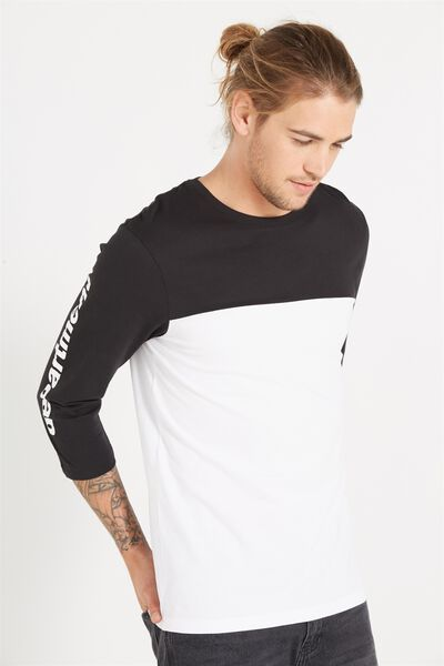 Tbar 3/4 Baseball Tee, WHITE/BLACK/DEPARTMENT