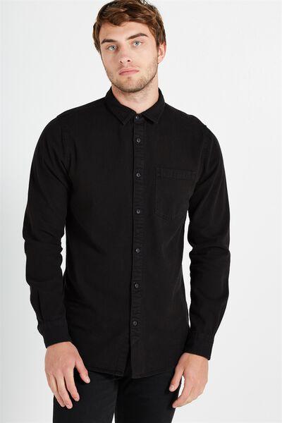 91 Shirt, BLACK VINTAGE DENIM
