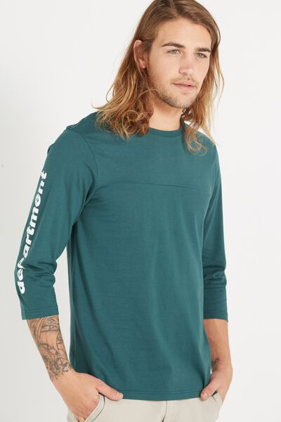 Tbar 3/4 Baseball Tee, SPORT GREEN/DEPARTMENT