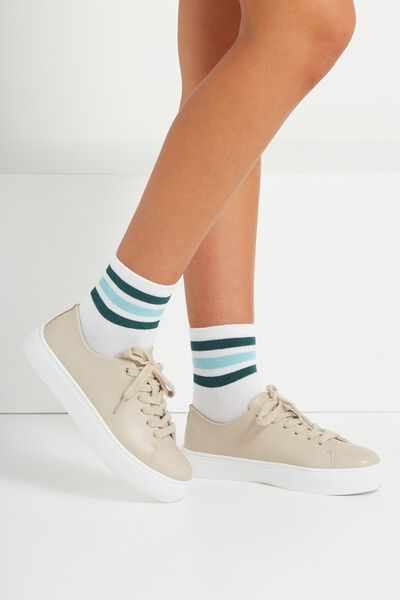 Sophie Minimal Sneaker, TAUPE