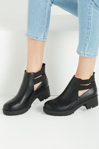 Kenickie Stretch Boot, BLACK