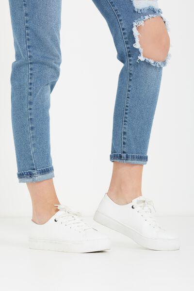 Sophie Minimal Sneaker, WHITE