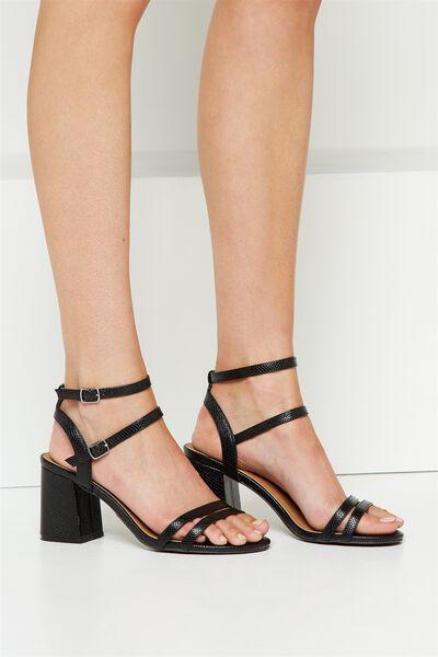 Masque Flared Heel, BLACK