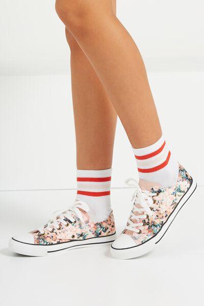 Jodi Low Rise Sneaker 1, FLORAL