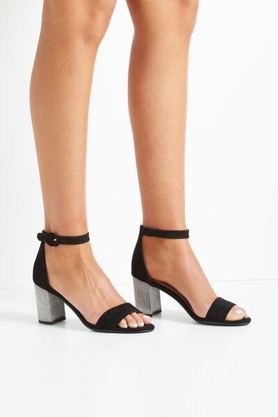 Mambo Flared Heel, BLACK