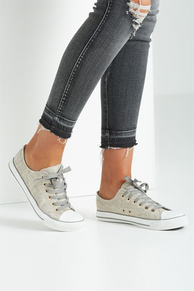 Jodi Low Rise Sneaker 1, GREY LINEN