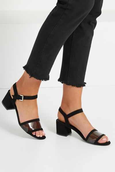 Florence Low Block Heel, BLACK