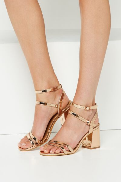 Masque Flared Heel, ROSE GOLD