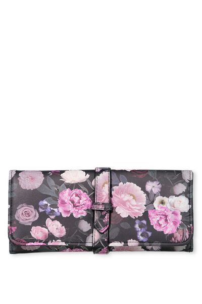 Travel Jewellery Roll, FLORAL