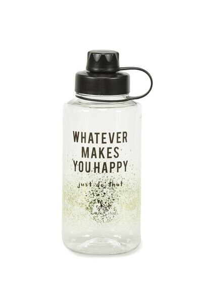 Gulp Drink Bottle, WHATEVER MAKES YOU HAPPY GOLD