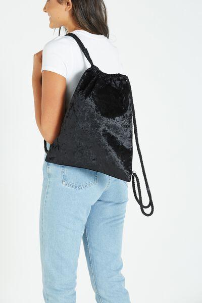On The Go Backpack, BLACK VELVET
