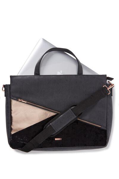 Premium Laptop Bag 15 Inch, BLACK LUXE