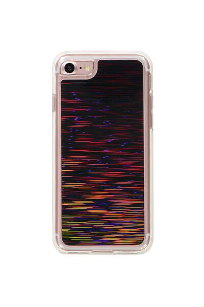 Textured Phone Cover 7, 8, BLACK SHOOTING STARS