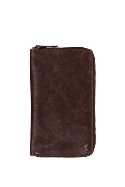 Buffalo Travel Wallet, VINTAGE TAN