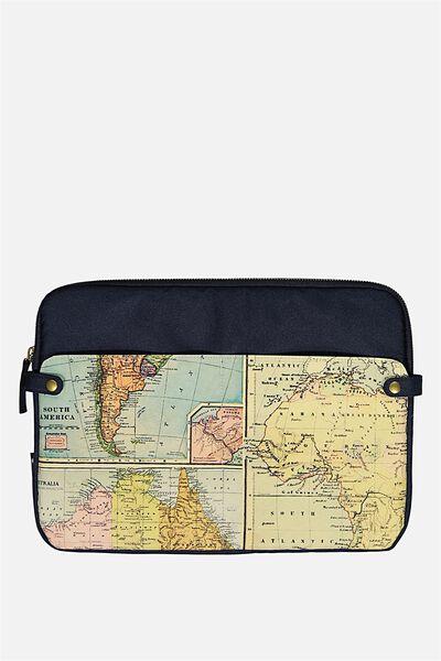 Varsity Laptop Case 15 Inch, ADVENTURE MAP