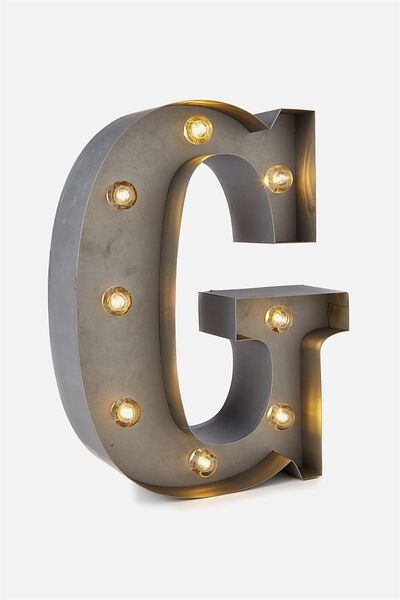 Small Letter Marquee Light, SILVER G