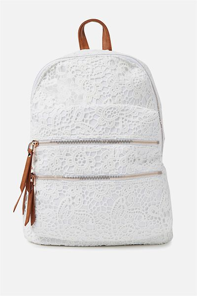 Berlin Backpack, WHITE LACE