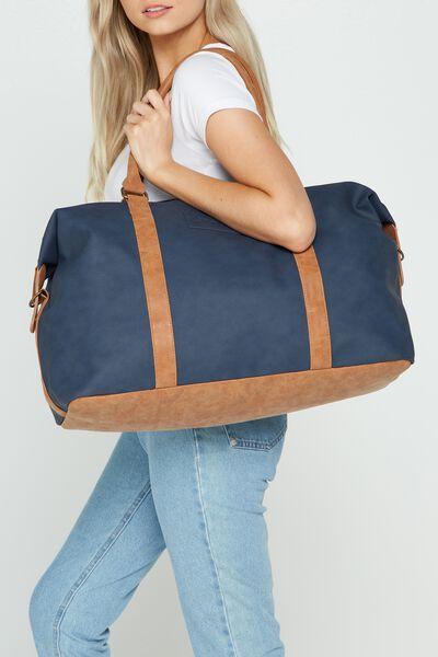 Neo Weekender Bag, RICH TAN & NAVY