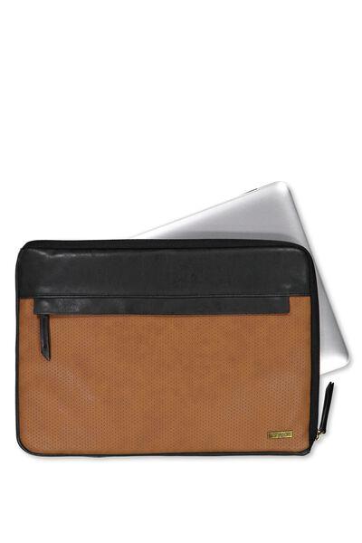 Premium Laptop Case 13 Inch, TAN PERFORATED