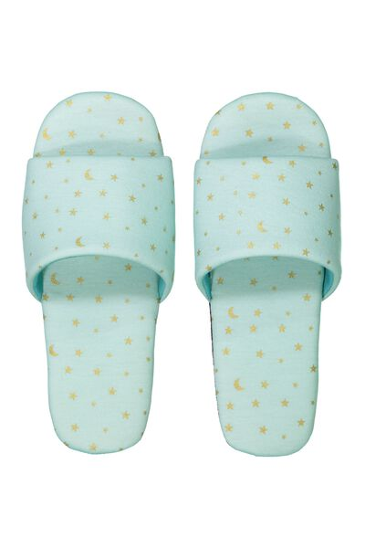 Travel Slippers, BLUE STARS