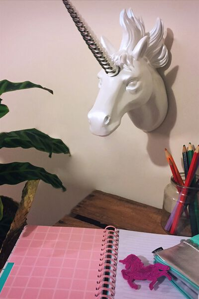 Unicorn Wall Head, IRREDESCENT UNICORN