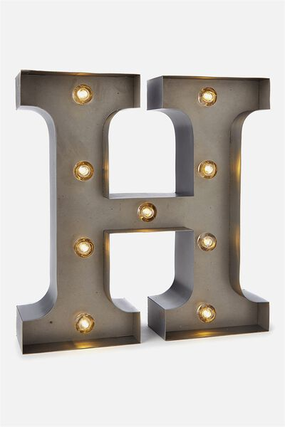Small Letter Marquee Light, SILVER H