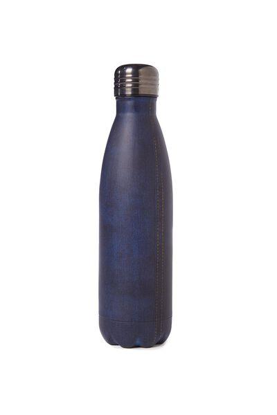Metal Drink Bottle, DENIM
