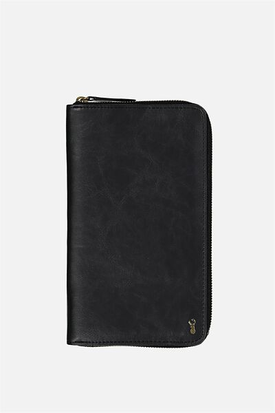 Buffalo Travel Wallet, BLACK