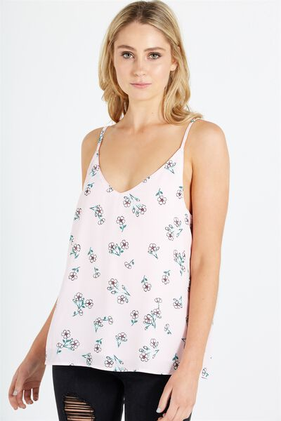 Astrid Cami, KATE FLORAL SMALL PINK SUGAR