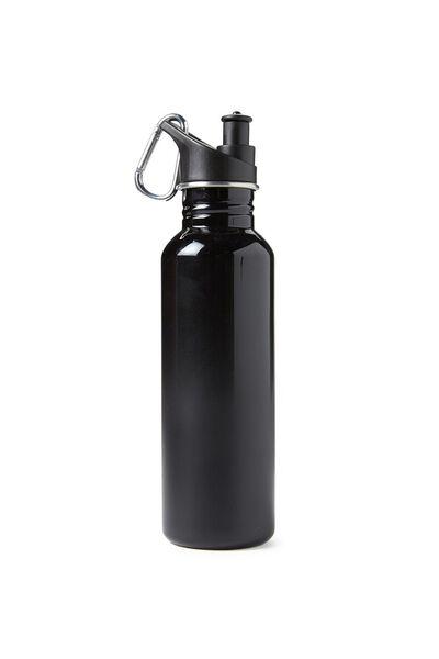 Stainless Steel Drink Bottle, BLACK/BLACK