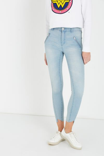Mid Rise Deluxe Skinny Jean 2, SIDE TWIST/BLEACH BLUE B