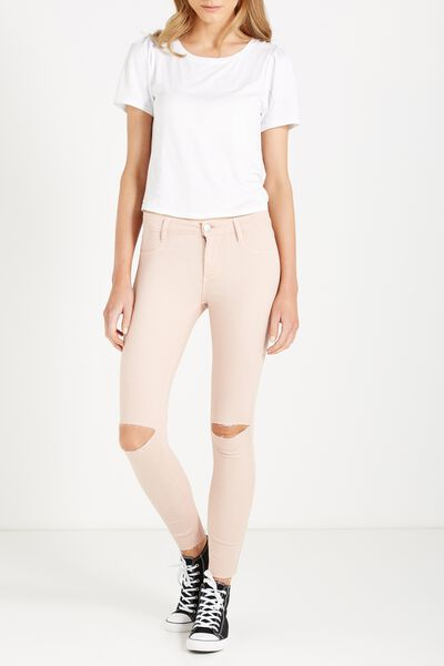 Mid Rise Jegging, WASHED PINK