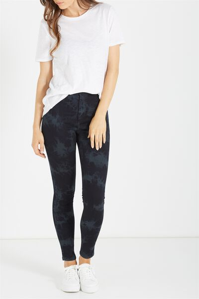 High Rise Jegging, BLACK CRUSH
