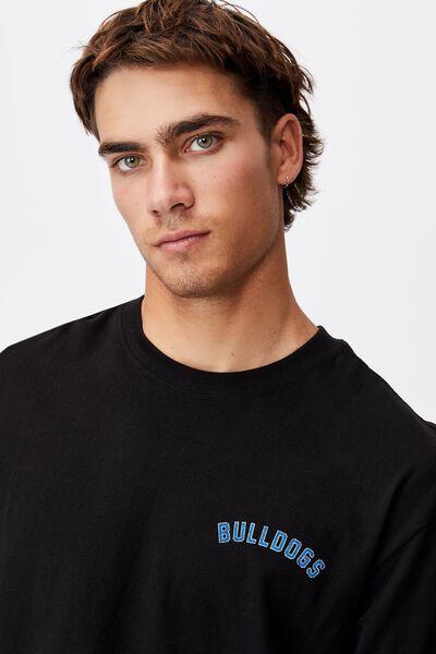 Nrl Mens Number Long Sleeve Top, BULLDOGS
