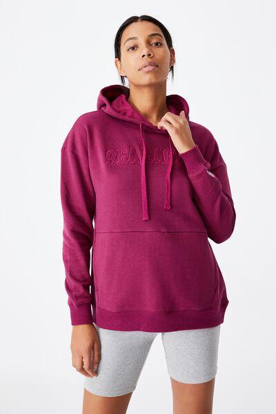 Nrl Womens Embroidered Pocket Hoodie, SEA EAGLES