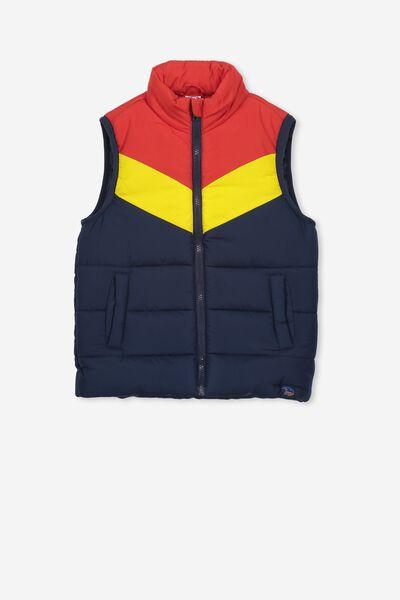 Afl Kids Puffer Vest, ADELAIDE