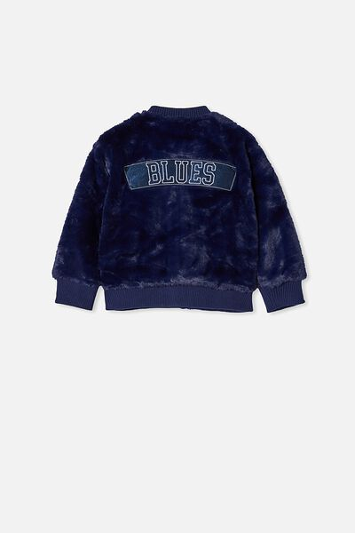Afl Kids Fur Bomber Jacket, CARLTON