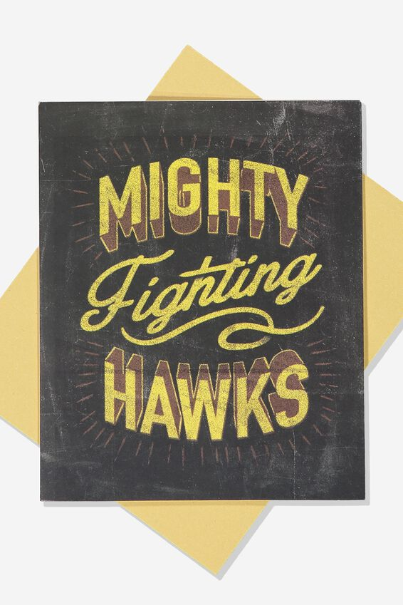 Afl Greeting Card - Chalk Design, HAWTHORN