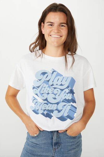 Aflw Genw Tee - Womens, WHITE / PLAY LIKE YOU MEAN IT