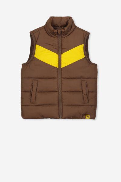 Afl Kids Puffer Vest, HAWTHORN