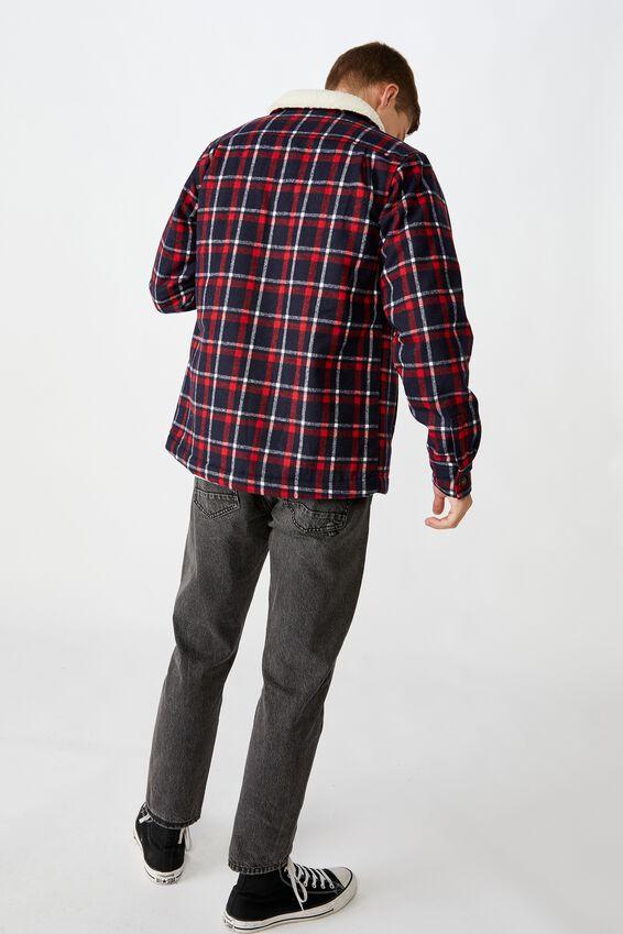 Nrl Mens Sherpa Jacket, ROOSTERS