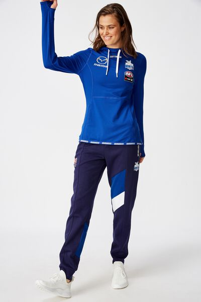 Aflw 2020 Ls Hooded Performance Top - Womens, NORTH MELBOURNE