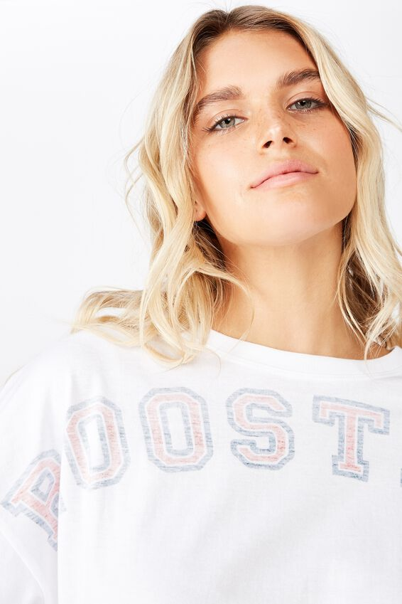 Nrl Ladies Chopped Graphic Tee, ROOSTERS