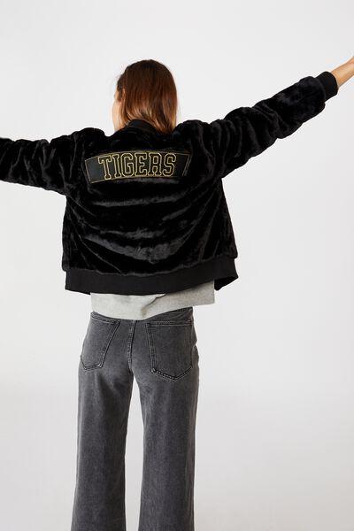 Afl Womens Fur Bomber Jacket, RICHMOND
