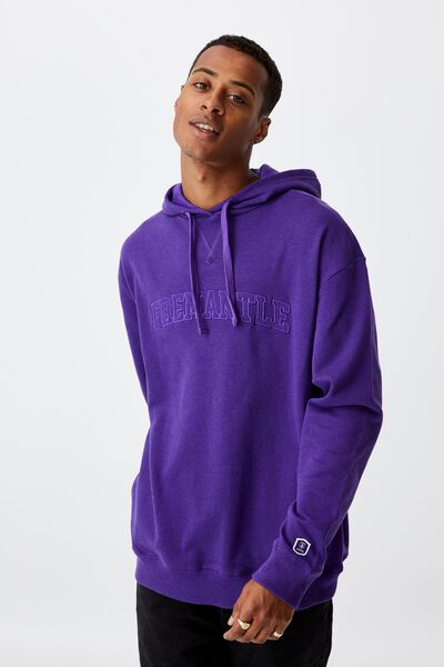 Afl Mens Embroidered Hoodie, FREMANTLE