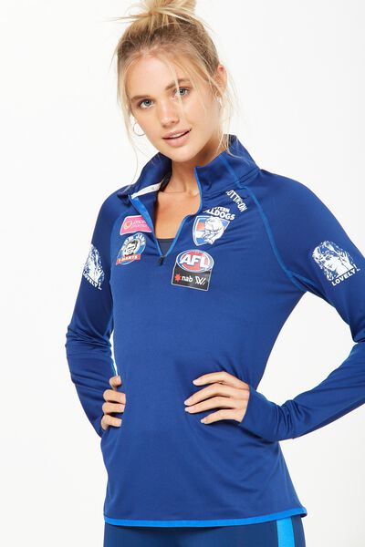 Aflw Performance Long Sleeve Top, WESTERN BULLDOGS
