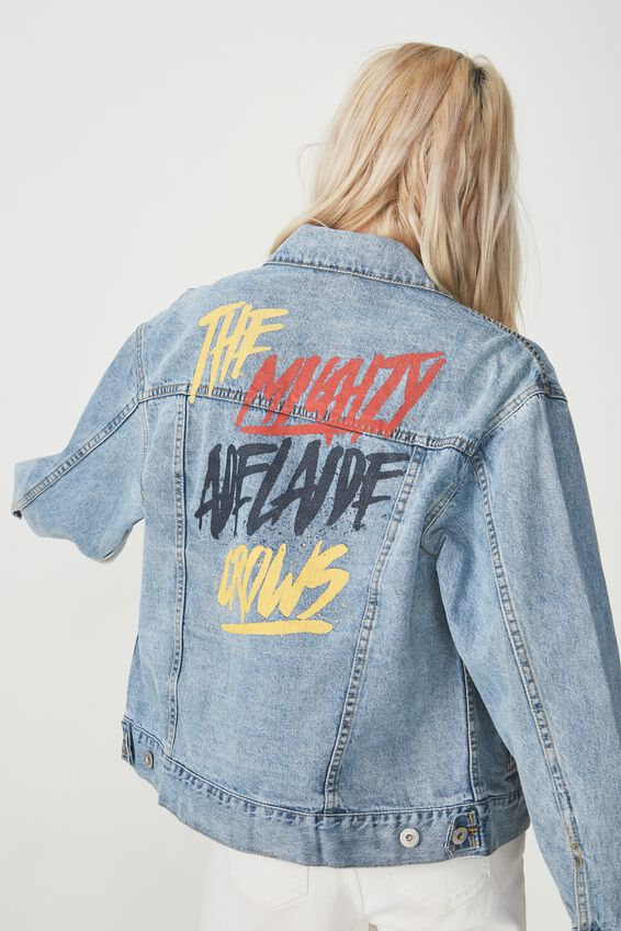 ADELAIDE AFL boyfriend denim jacket, ADELAIDE