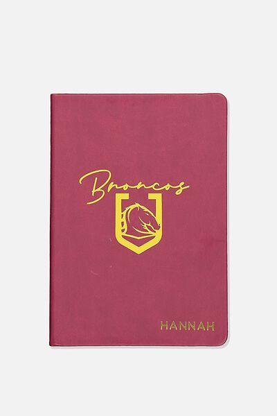 Personalised Nrl Buffalo Journal, BRONCOS