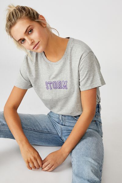 Nrl Womens Graphic T-Shirt, STORM