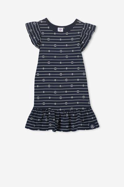 Afl Girls Frill Dress, CARLTON